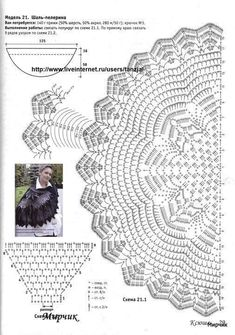 ideas crochet shawl pattern wedding lace for 2020 Poncho Au Crochet, Crochet Wrap Pattern, Crochet Cape, Crochet Shawls And Wraps, Crochet Diagram, Crochet Scarves, Crochet Motif, Crochet Doilies, Crochet Clothes