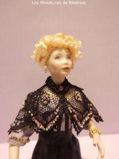 Mathilde, edwardian lady by Les miniatures de Béatrice Lady, Porcelain, Disney Princess, Dolls, Projects, Miniature Dolls, Baby Dolls, Log Projects, Porcelain Ceramics