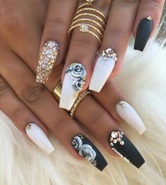 Different Nail Designs Ideas beautiful nail designs trendy nail design popular nail Different Nail Designs. Here is Different Nail Designs Ideas for you. Different Nail Designs you should stay updated with latest nail art designs nail. Diy 3d Nails, Nail Art 3d, Cute Acrylic Nails, Acrylic Nail Designs, Cute Nails, Classy Nails, Fingernail Designs, Fabulous Nails, Gorgeous Nails