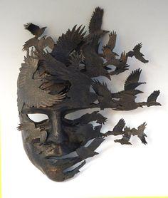 Corvus Flight by TheArtOfTheMask on Etsy