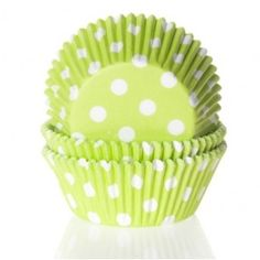 House of Marie Baking cups Stip Lime Groen - - Cupcake Wars, Cupcake Liners, Cupcake Holders, Polka Dot Theme, Polka Dots, Mini Cupcakes, Cake Pops, Pastries, Butler Pantry