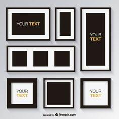 Colección de marcos blancos y negros