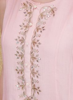 Indian Fashion Designers - Anita Dongre - Contemporary Indian Designer - The Calysta Suit - Embroidery Suits Punjabi, Zardosi Embroidery, Embroidery On Kurtis, Hand Embroidery Dress, Kurti Embroidery Design, Embroidery Neck Designs, Indian Fashion Designers, Indian Designer Wear, Dress Neck Designs