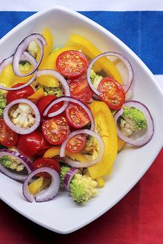 Cauliflowers, Yellow Pepper and Tomatoes