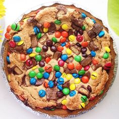 But, that is dumb, because candy is ALWAYS more delicious than fruit. So, make your pie with candy and cookie dough instead. | The Best Pie Is This Cookie Dough Pie Full Of Candy