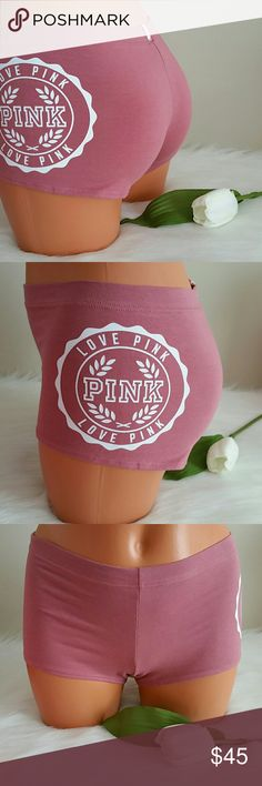 Pink victoria secret Boyshort size M. Brand new pink victoria secret boyshort very soft. Size Medium.  Smoke and pet free home.  Fast shipping +pink paper bag + extra gift.  I don't trade hun. Only 2 left. PINK Victoria's Secret Intimates & Sleepwear Panties