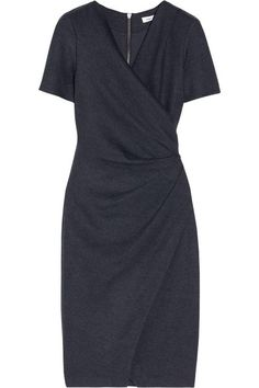 9fe79a9fe048 Blue Cap Sleeve Nova Draped Jersey In Black Small S Short Casual Dress