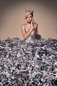 mirrors by Alexey Vladimir - Fashion Photography - Recycled Dresses - Rubbish concept ideas