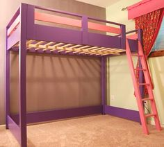 loft bed with nothing underneath... would love ot do this for ashlyn's room. more space to play and store all her goodies!