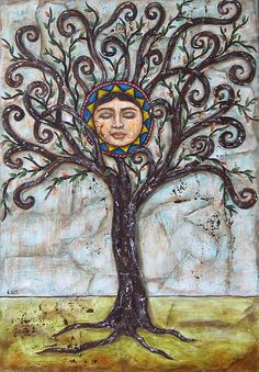 Tree Of Life by Rain Ririn - Tree Of Life Painting - Tree Of Life Fine Art Prints and Posters for Sale