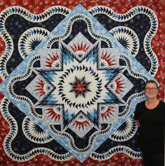 Glacier Star ~Quiltworx.com, made by Certified Instructor Sylvia Kaptein