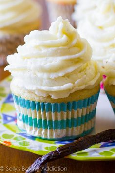 My favorite recipe for Homemade Vanilla Cupcakes. Ditch that boxed mix, these are much better!