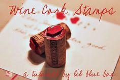 DYI wine cork stamps