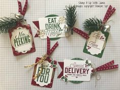 Stampin' Up! Christmas Tags – Stamp It Up with Jaimie