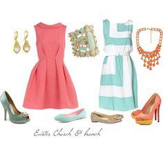 Todos los años, llevo un vestido para ir a iglesia. Típicamente, es mi ropa es de los colores de primavera.
