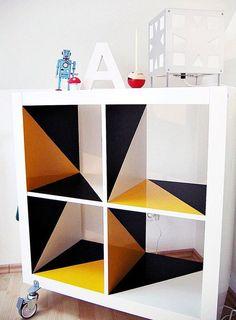 , Klebefolie, Ikea Expedit, Bastelideen Source by Refurbished Furniture, Repurposed Furniture, Unique Furniture, Furniture Projects, Furniture Makeover, Painted Furniture, Home Furniture, Furniture Design, Diy Projects
