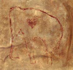 """""""The first Valentine's message ♥️ The wonderfully enigmatic red woolly mammoth with heart from El Pindal Cave on the coast of northern Spain  Image: Berenguer Paleolithic Art, Prehistoric Age, Heart Painting, Cave Painting, Ice Age, Cold Meals, Ancient Art, Rock Art, Archaeology"""