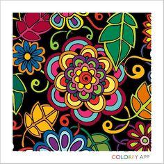 Relaxing coloring app