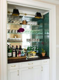Bar with mirror- ashley whittaker design