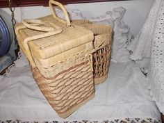 Wicker Natural  Color Wine,Cheese Picnic Basket /Not Included in Coupon Discount…