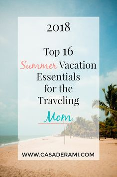 When traveling with my kids, I need to know that I have everything they (or I) might need to make it a smooth + memorable vacation, especially when flying! Which is why I put together my Top 16 Summer Vacation Essentials for the Traveling Mom.