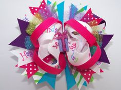Happy Birthday Boutique Bow by laladivabowtique on Etsy, $9.50