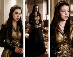 reign meme: mary stuart best outfits - black-gold dress from 1.20 - [5/?]
