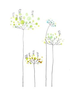 4210 best images about q u o t Doodle Drawings, Doodle Art, Cute Drawings, Watercolor Cards, Watercolor Flowers, Watercolor Paintings, Watercolour, Illustration Art, Illustrations