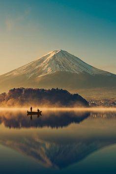 Mount Fuji in the morning. Japan is so beautiful: