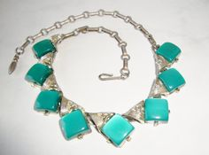 Vintage Coro Green Thermoset Necklace / by WintervilleWonders, $16.00