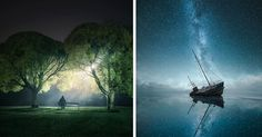 The magic of the night sky is brought to life in these otherworldly night photos. Extreme Photography, Stunning Photography, Nature Photography, Image Photography, Love Pictures, Nature Pictures, Cool Photos, Night Sky Photos, Beautiful Sky
