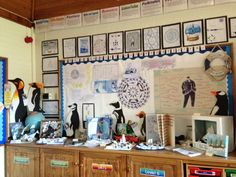 Shackleton's Journey working board and display. Ks2 Display, Display Ideas, School Displays, Classroom Displays, Mr Popper's Penguins, 5th Class, Display Boards, Sats, Year 6