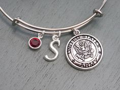 Hey, I found this really awesome Etsy listing at https://www.etsy.com/listing/162816712/army-bangle-army-bracelet-army-mom-gifts