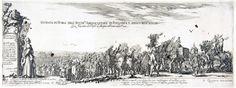 56. Stefano Della Bella, wjazd Jerzego Ossolińskiego do Rzymu, miedzioryt, 1633