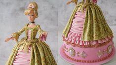 Princess Doll Cake | Marie Antoinette Style Dress Cake ft. Cinderella - YouTube Carriage Cake, Dress Cake, Princess Zelda, Disney Princess, Doll Hair, Marie Antoinette, Cinderella, Fashion Dresses, Dolls