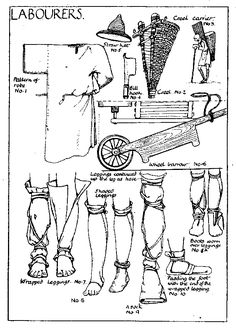 Medieval pattern for labourers
