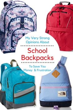Why wast money on backpacks? Here are My Very Strong Opinion on School Backpacks. How to make them last for your kids for years.