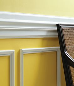 "Elevate your dining room walls with a moulding ""build-up."" This project creates a custom look that is more dynamic and rich by combining various pieces of millwork trim."