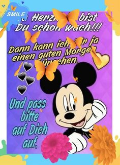 Animiertes Gif, Minnie Mouse, Friendship, Gifs, Disney Characters, Videos, Garden, Morning Sayings, Good Day