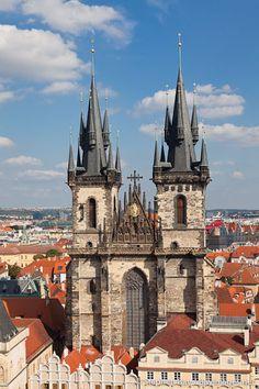 Tyn Church. Prague, Czech Republic.