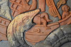 Sea Food in Reverse Mythical Sea Creatures, Sea Food, Tile, Image, Detail, Mosaics, Tiles, Backsplash