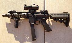 AR15 SBR (Glock mag) in 9mm