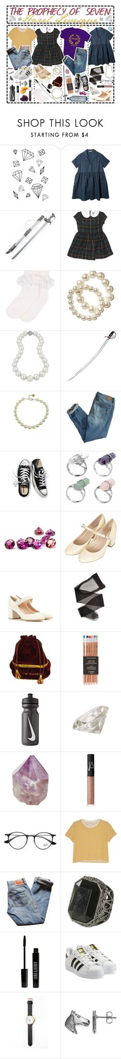 """""""- ̗̀ The Prophecy of Seven: Hazel Levesque  ̖́-"""" by i-get-a-little-bit-breathless ❤ liked on Polyvore featuring Monsoon, Old Navy, Bling Jewelry, Cold Steel, Fornash, American Eagle Outfitters, Victoria's Secret, Topshop, Gianvito Rossi and NIKE"""