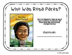 Novel Study on Rosa Parks. Complete with vocabulary, comprehension, and grammar practice for each chapter.