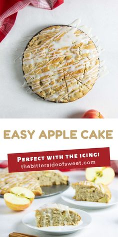 Easy Apple Cake! Made with just a few pantry staples and fresh apples! With a hint of cinnamon, this tasty dessert will become a favorite!   The Bitter Side of Sweet Frosting Recipes, Cupcake Recipes, Cupcake Cakes, Dessert Recipes, Best Apple Recipes, Fall Recipes, Sweet Recipes, Delicious Cake Recipes, Yummy Cakes