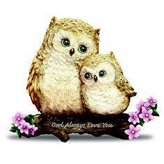 $29.99 Mama and baby, Owl Always Love You Figurine