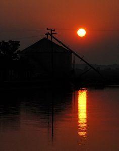 Arkansas Sunrise - Grain Elevator