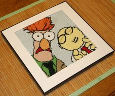 Cross Stitch Pattern PDF - Beaker and Professor Bunsen Honeydew -DIY - Muppets