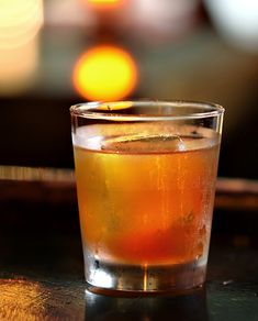Mortimer & Mauve from Seamstress. Rye, chai-infused sweet vermouth, ginger liqueur, oils from an orange twist.