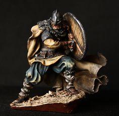 ELITE TIN SOLDIER: Viking Winter is Coming 54 mm., figurine, metal sculpture. #Spbsouvenir
